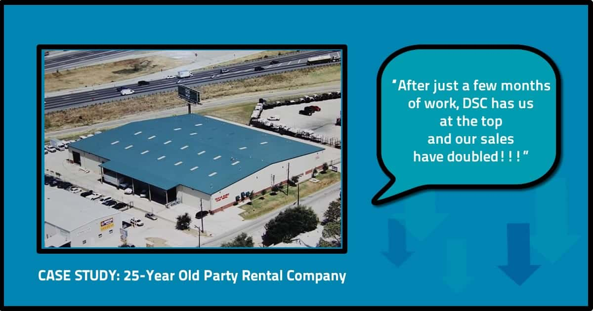 party rental SEO case study