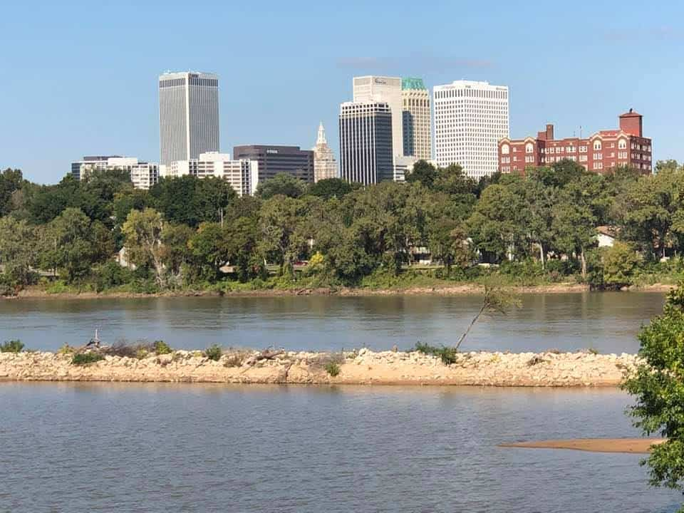 Downtown Tulsa - View from the west bank of the Arkansas river